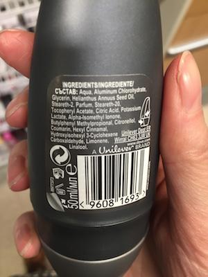 deodorant aluminium